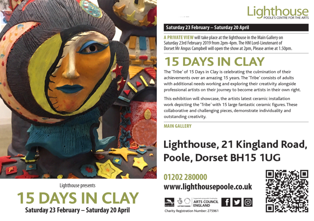 15 days in clay 2019 exhibition Lighthouse Poole